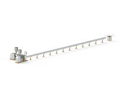 خط ماكينة الانابيب المطاطية الحلزونية